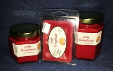 **NEW** Hand Poured Bakery Scented Soy Candles Tarts & Votives - Jelly Doughnut