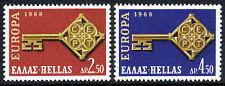 Greece 916-917, MNH. EUROPA CEPT. Golden Key, 1968
