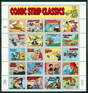 Comic Strip Classics Sheet of 20 32¢ Stamps Scott 3000 Mint VF NH - Stuart Katz