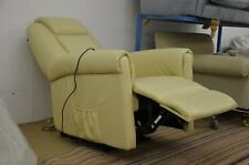 Relaxateeze Recliner Armchair Cream Bonded Leather Electric Recliner Chair