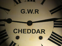 Great Western Railway, GWR Victorian Style Waiting Room Clock, Cheddar Station.