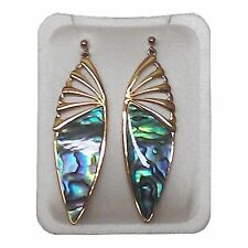Paua Jewelry - Gold Plated Stud Earrings (PE264)