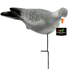 NEW LUCKY DUCK EDGE BY EXPIDITE FLOCKED WOOD PIGEON DECOYS 3 PACK WITH STAKES