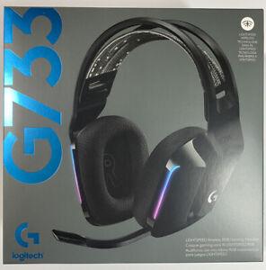 Logitech G733 Lightspeed Wireless Gaming Headset with Suspension Headband, Black