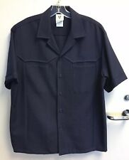 Iolani Executive Hawaiian Shirt Navy Blue Vintage Retro Full Button Great Cond
