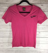 Stussy New York LA Tokyo London Pink Small T-Shirt Increase The Peace Tour RARE