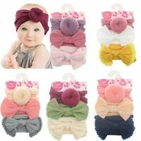 Baby Kids Bow Knot Cross Headband Twist Headwrap Girl Toddler Hair Band Headwear