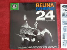 Belina Behrend :  24 Songs and one Guitar - Folklore-Session in Berlin LP 60er