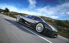 """KOENIGSEGG CCX ON ROAD A1 CANVAS PRINT POSTER FRAMED 33.1"""" x 21.4"""""""