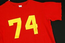 Vintage 70s Cardinal Mooney Football Jersey Artex Red Youth Boys M