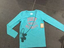 NWT Juicy Couture New & Genuine Girls Age 10 Green Cotton Long Sleeved T-Shirt