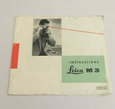 VINTAGE LEAFLET  INSTRUCTIONS MANUAL FOR LEICA M3 CAMERA -FREE SHIPPING