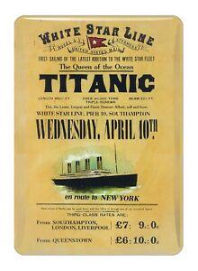 Titanic Rates Vintage Collectors Mini Metal Sign Fridge Magnet (sg)