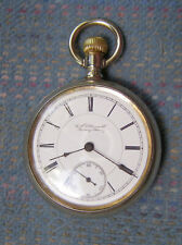 Nickel Swing Out Pocket Watch Serviced! 18S Rockford 11J Private Label Open Face