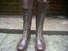More details for ww2 german n.s.d.a.p. / s a kampfzeit tall boots reproduction size eu 43 uk 9 .