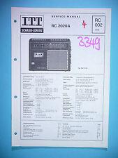 Instrucciones Manual de servicio para ITT / SCHAUB-LORENZ RC 2020 A, original
