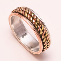Solid 925 Sterling Silver Spinner Ring Meditation ring statement ring Size st01