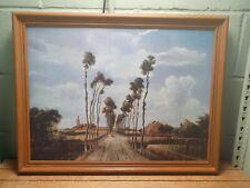 Meindert Hobbema 'The Avenue at Middelharnis' fine art print on board. 64B3.
