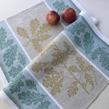 Green Kitchen Tea Dish towel Jacquard Pure linen Thanksgiving Gift Harvest Thick