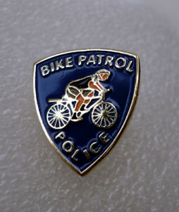 ZP40 Novelty Police Bike Patrol Metal Lapel Pin Badge