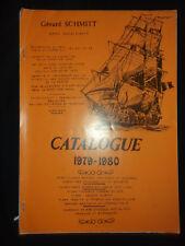 catalogue maquette Gérard Schmitt - 1979 1980 - jeu jouet - acastillage marines