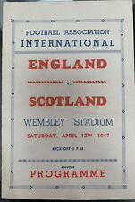 More details for england v scotland pirate programme 1947