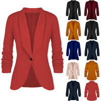 Women's One Button Slim Fit Casual Business Blazer Suit Jacket Coat Lady Outwear