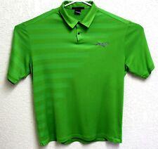 Tiger Woods Collection Nike Dri-Fit Mens Green Golf Short Sleeve XL Shirt EUC