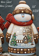 Ceramic Bisque Ready to Paint Medium Church Scene Snowman with electric