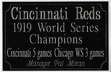 Cincinnati Reds World Series engravings 1919, 1940,1975,1976,1990. 4x6 large