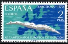 (Ref-12657) España 1970 nadar, bucear, water polo Champs. SG.2047 Mint estampillada sin montar o nunca montada