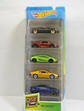 Hot Wheels 2019 Exotics 5 Pack Pagani Lamborghini Lotus Esprit Aston Martin V8