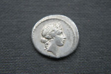 REPUBBLICA ROMANA ARGENTO Denarius Coin 2/1st secolo A.C.