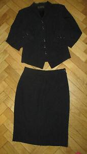 FRANCO Di Tardo Firenze Black Tailored Skirt Suit 12