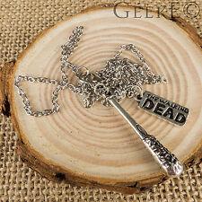 The Walking Dead Silver Negan Lucille Bat Necklace - UK Stock