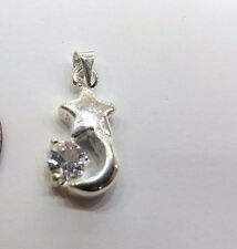 5 pieces 8x19mm moonstar en Alliage de Zinc Strass Charme Pendentifs-a0837