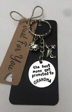 The Best Moms Get Promoted To Grandma • Keyring • Grandma To Be Gift•