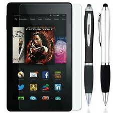 Stylus + Tempered Glass Screen Protector Guard Shield For Amazon Fire 7 8 9 10