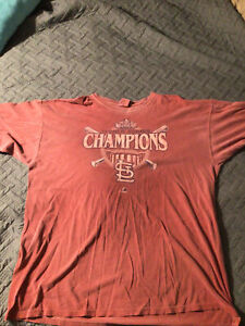 Vintage St Louis Cardinals Baseball MLB World Series 2011 T-Shirt Size XXL Retro