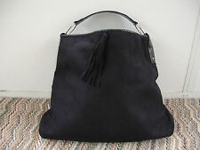 VICTORIA'S SECRET EXTRA LARGE TOTE FAUX SUEDE / LEATHER BLACK BAG, HANDBAG NEW!