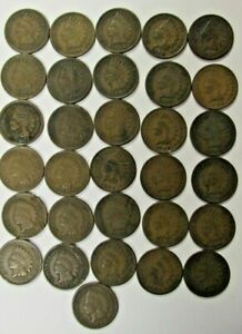 LOT of 31 Better Grade Indian Head Cents 1C Nice Collection of Old Coins #4484