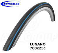 Schwalbe Lugano 700 x 25C (25-622) Racing/Road Bike Tyre - Blue (K-Guard)