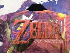 Zelda Ocarina Of Time Jacket 90s Promo Rare Nintendo 64 Kids Tyvek Paper Zip Up