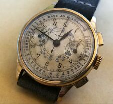 CHRONOGRAPH VINTAGE CYMA, GOLD PLATED.