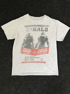 Halo 5 Guardians Gray Black Red Master Chief Jameson T Shirt Size Medium