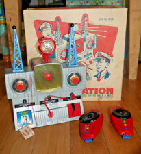 Vintage Merit Dan Dare Space Control Radio Station 1950s Boxed Rare Toy Set A031