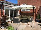 Garden Gazebo Ecru Party Shelter Patio Shade Outdoor Malaga Sun Canopy 3m x 3m