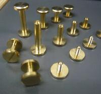 Brass Chicago Binding belt screw back Rivets Nails studs interscrews 6/8/12/20mm