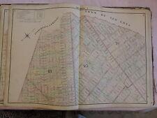 1874 original Beers Map Brooklyn Bushwick Weeksville Bedford-Stuyvesant Rare !