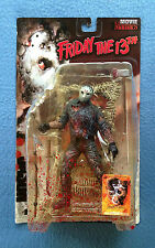 "BLOODY VARIANT JASON VOORHEES FRIDAY THE 13TH MOVIE MANIACS MCFARLANE 7"" FIGURE"